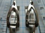 Серебряные Серьги Сережки Английская Застежка 925 проба Серебро 068 фото 6