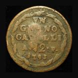 Королевство Обоих Сицилий 12 кавалли 1793 надчекан JO, фото №3