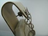 Серебряные Серьги Сережки Пусет Пуссет Гвоздики Длинные Свисающие 925 проба Серебро 077 фото 3