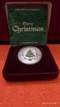 """1 доллар """"Рождество"""" 2008 Тувалу, фото №2"""