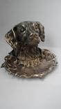 Пепельница Голова собаки. Бронза., фото №3