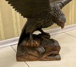 Фигура орла, выполнена из дерева, ручная работа. Размах крыльев 110см., фото №6