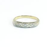 Винтажное миниатюрное золотое кольцо с бриллиантами, фото №3
