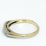 Винтажное миниатюрное золотое кольцо с бриллиантами, фото №4