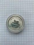 """Серебряная монета """"Год Козы"""" Lunar, 50 центов 2003, фото №2"""