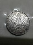 Монета 3 марки, серебро, фото №3