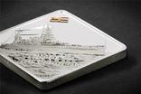 Палау Линкор Гранд Крузер HMAS Австралия 10 долларов 2011. 2 унции серебра(62.2г), фото №3