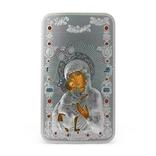 Ниуэ 2014 Православные святыни 2 $ - Феодоровская Богородица Серебряная монета 1 унция, фото №2