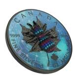 Канада 5 долларов 2019 год. Паук 3Д. 1 унция серебра 999 пробы, фото №2