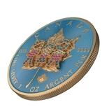 Канада 5 долларов 2019 год.Канадский лист. День семьи 3Д. 1 унция серебра.Тираж 500 шт., фото №2