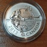Канада,20 долларов,юбилейные 2013 г. 999,9 пр. Хоккей, фото №2
