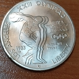 США 1 доллар Олимпиада 1984 г., фото №2