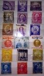 Альбом с  более 50 старых марками США. Президенты., фото №7