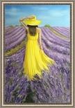 Картина, В жовтому на лавандовому, 60х40см. Живопис на полотні, фото №6