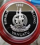 Вануату 50 Вату 1992 г Корабль. Серебро. Пруф, фото №3