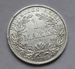 1 марка 1915 г. (А) Германия, серебро, фото №2