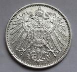 1 марка 1915 г. (А) Германия, серебро, фото №3