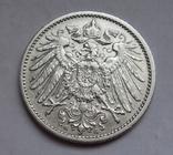 1 марка 1907 г. (G) Германия, серебро, фото №3