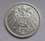 1 марка 1911 г. (А) Германия, серебро, фото №4