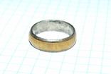 Кольцо с полимерной вставкой по периметру, фото №2