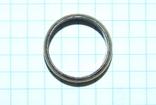 Кольцо с полимерной вставкой по периметру, фото №3