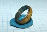 Кольцо с полимерной вставкой по периметру, фото №9