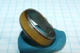 Кольцо с полимерной вставкой по периметру, фото №10
