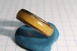 Кольцо с полимерной вставкой по периметру, фото №11