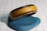 Кольцо с полимерной вставкой по периметру, фото №12