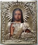 Ікона Ісус, латунь, 13,8х11,5 см, фото №3