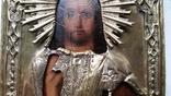Ікона Ісус, латунь, 13,8х11,5 см, фото №5