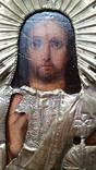 Ікона Ісус, латунь, 13,8х11,5 см, фото №7