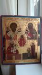 Икона старообрядческая 4 чястнік вис 45 см шир 38см, фото №4