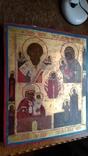 Икона старообрядческая 4 чястнік вис 45 см шир 38см, фото №8