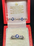 Серьги и кольцо с сапфирами и бриллиантами, фото №4