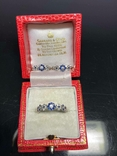 Серьги и кольцо с сапфирами и бриллиантами, фото №9