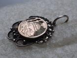 Мусульманская подвеска периода Царской России. Серебро, золото, черные бриллианты., фото №3