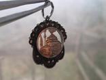 Мусульманская подвеска периода Царской России. Серебро, золото, черные бриллианты., фото №5