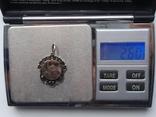 Мусульманская подвеска периода Царской России. Серебро, золото, черные бриллианты., фото №9