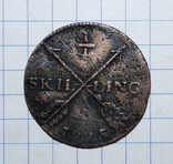 Швеция 1/4 скиллинга 1825 года., фото №4