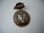 Знак накладной 1955 год чемпион Спартакиада профсоюзов, фото №4