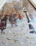 "Картина ""Снегопад. Одесса"". Е.Н.Ткаченко(1923-2002). к/м. 1953г. фото 3"
