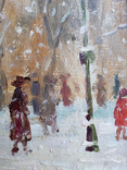 "Картина ""Снегопад. Одесса"". Е.Н.Ткаченко(1923-2002). к/м. 1953г. фото 4"