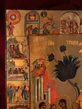 Икона Святая троица с клеймами, фото №3