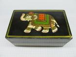 Винтажный запечатаный чай в деревяной коробке. Индия., фото №3