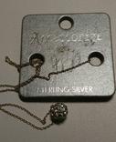 Серебряная цепочка 925 с подвесом, фото №6