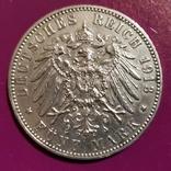 5 марок Вюртемберга 1913 г., фото №2