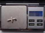 Крестик из серебра с золотой вставкой, фото №7