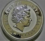 "2002 Австралия, серебро, 1 килограмм ""Год Лошади"" с бриллиантом, фото №6"
