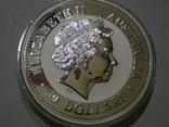 "2002 Австралия, серебро, 1 килограмм ""Год Лошади"" с бриллиантом, фото №7"
